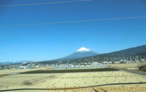 東海道新幹線車窓の富士山