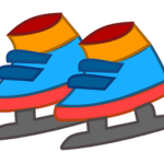 子供のスケート靴の絵